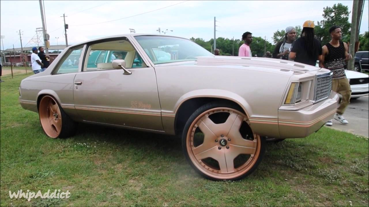 WhipAddict: 80' Chevrolet Malibu on brushed Rose Gold Forgiato Alneato 24s, Custom Paint ...