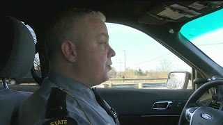 ride along with troopers reveals dangers of distracted driving