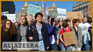 🇫🇷 Climate change: Teenage environmentalists protest in Paris l Al Jazeera English