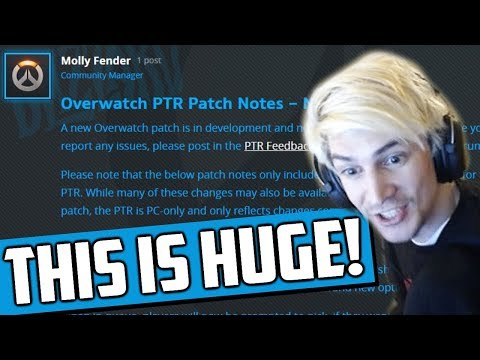 XQc Reviews NEW Overwatch PTR Patch Notes – Nov 13, 2019