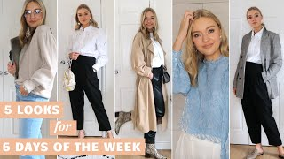OUTFITS FOR DIFFERENT DAYS OF THE WEEK | 5 LOOKS FROM WORK TO WEEKEND | LYDIA TOMLINSON