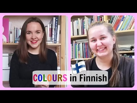 Finnish lesson 19. How to say colours in Finnish. With Anni Erlin. Урок финского.