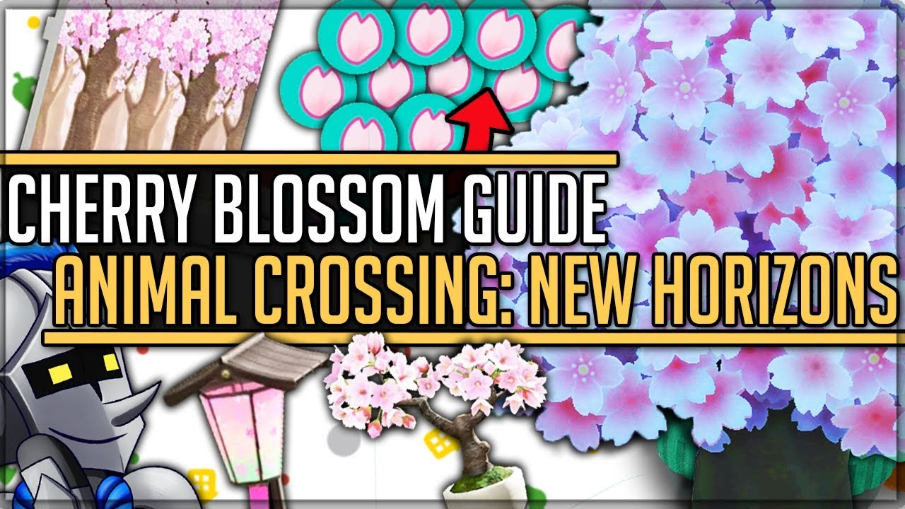 Cherry Blossom Event All 14 Secret Items How To Get Them Animal Crossing New Horizons Acnh Youtube