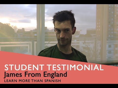 General Spanish Course Student Testimonial by James from Egland