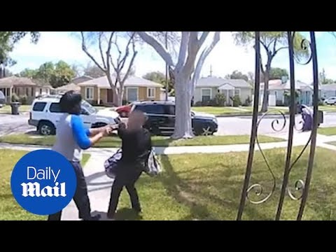 Woman Catches A Would-be Parcel Thief In The Act On Her Porch