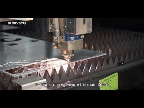 Amazing 3000W Popular Fiber Laser Cutter Cutting Aluminum Sheet   CNC Metal Cutting Machine