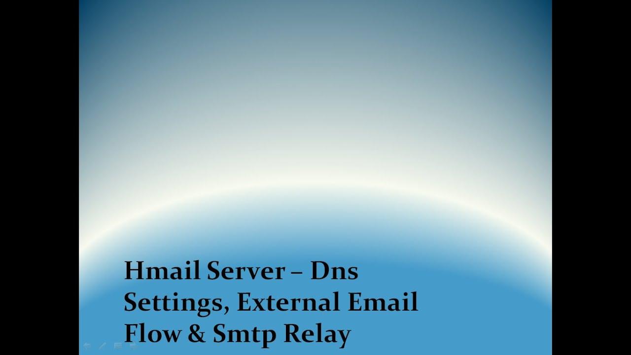 Setup Hmailserver Dns Record | How To Create Mx Record & Set Smtp Relay