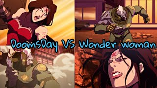 Wonder woman VS DoomsDay | The Death of Superman 2018 |  Fight scene | Justice League Defeated |