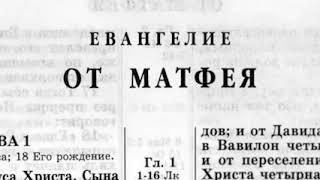 Библия  040 Евангелие от Матфея  Новый Завет читает Александр Бондаренко