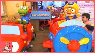 뽀로로 키즈 카페 테마파크 어린이 자동차 기차 놀이 시간 ♡ 어린이 장난감 놀이 동탄점 #1 Indoor Playground Fun Play | 말이야와아이들 MariAndKids