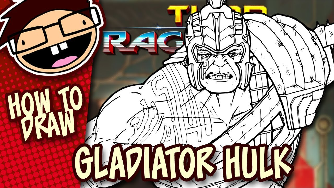 How To Draw Gladiator Hulk Thor Ragnarok Narrated Easy Step By Step Tutorial