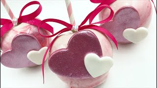 HOW TO CREATE VALENTINE MARBLE CANDY APPLES