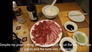Raw eating tuna toro sashimi fresh and delicious 生吞拿魚腩拖羅刺身新鮮又好食 July 2011