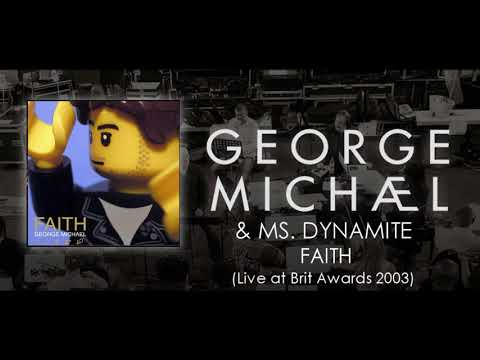 George Michael & Ms  Dynamite   '' Faith '' Live at Brit Awards 2003