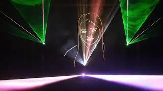 Свадебное лазерное шоу, 3D анимация (wedding laser-show)