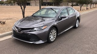 REVIEW   2018 Toyota Camry LE (Predawn Gray Mica)