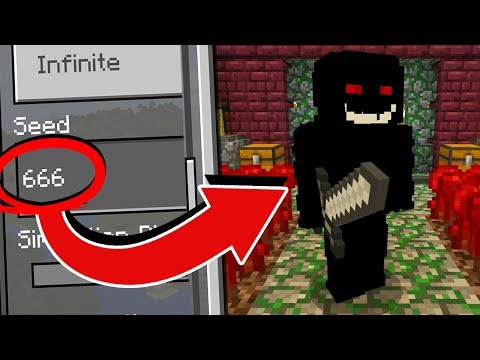 What's on the SEED 666 in Minecraft Pocket Edition?