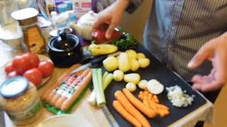 густой суп с колбасками немецкая кухня