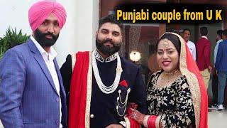 Punjabi Couple fron UK Punjabi Wedding |  Best Punjabi Wedding | JaanMahal video HD