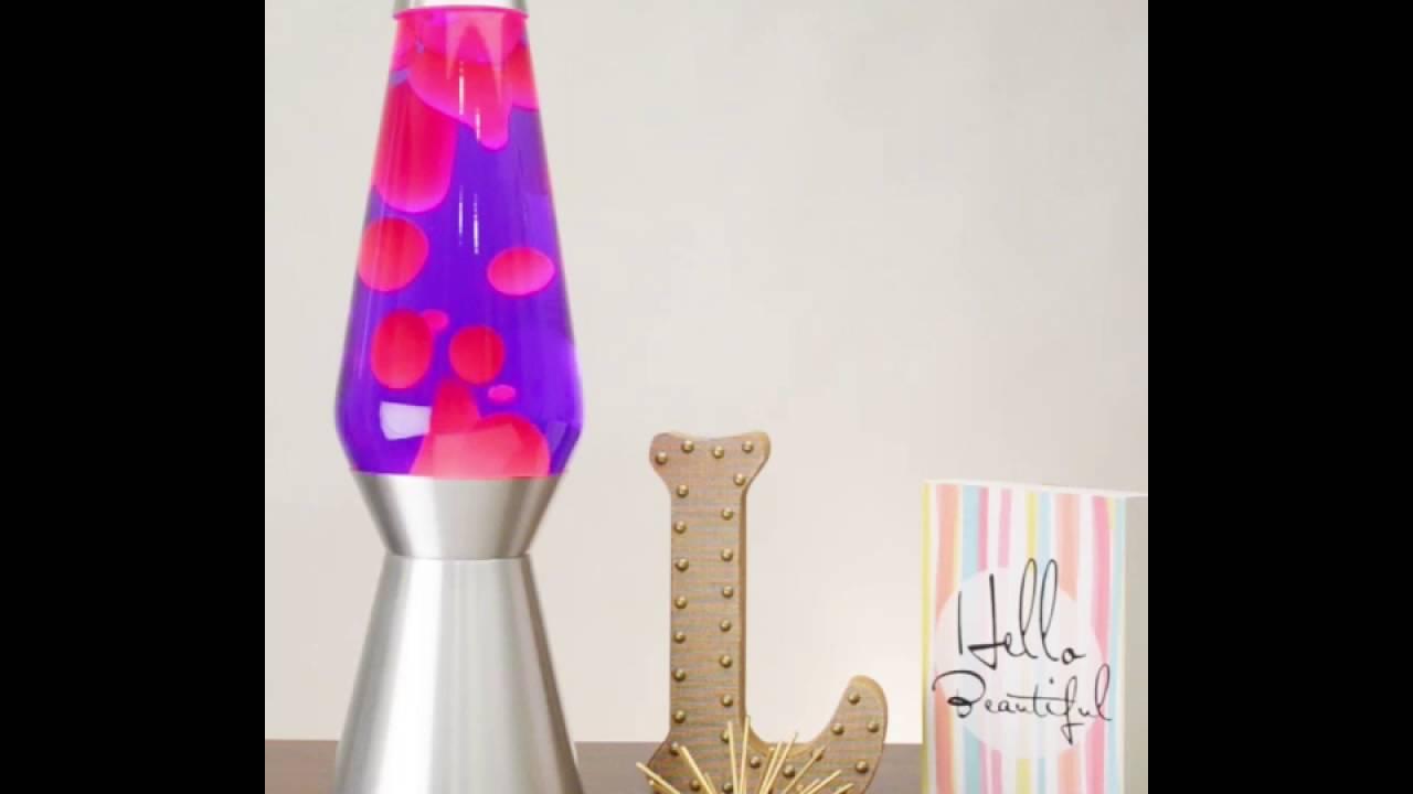 6821 Pink & Purple Grande LAVA Lamp - YouTube