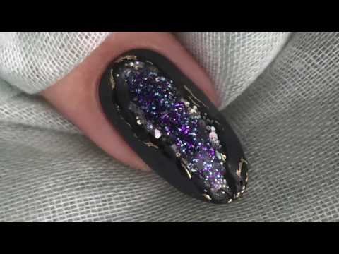 Geode Nails using CND Shellac