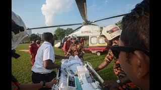 Penerbangan ihsan bomba untuk pesakit bayi