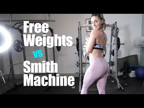 Free weight squats Verses Smith machine