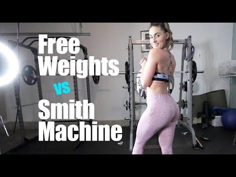Free weight squats Verses Smith machine