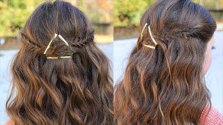 كيفية إنشاء مشبك Tieback | دروس الشعر | تسريحات الشعر لطيف الفتيات