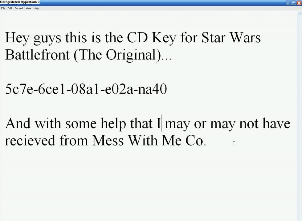 Star wars battlefront cd