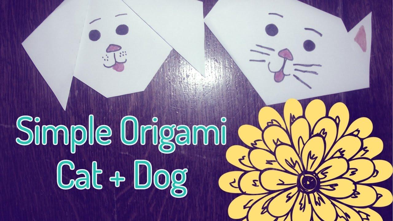 Beginner's Origami Tutorial: Origami Cat and Dog | Origami ... | 720x1280