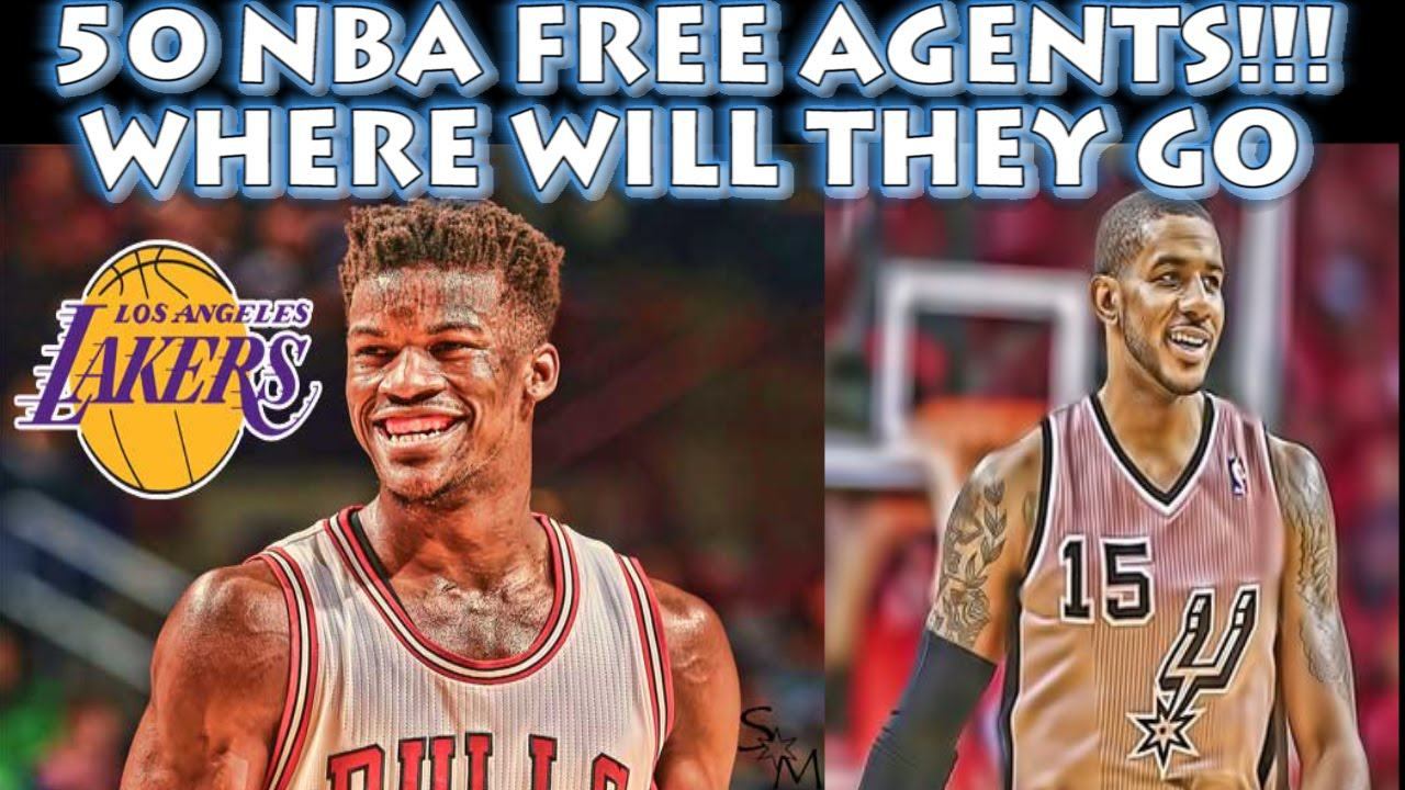 50 NBA FREE AGENTS & Where They Will Go - YouTube