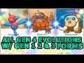 ALL GEN 4 EVOLUTIONS IN POKEMON GO WITH GEN 1,2 & 3 FORMS | PORYGON Z RHYPERIOR MAMOSWINE & MORE!