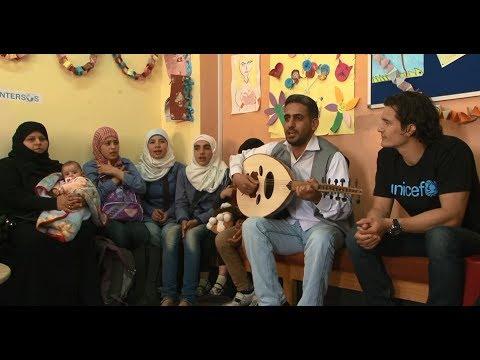 Orlando Bloom Visits Syrian Refugee Children - Goodwill Ambassador | UNICEF