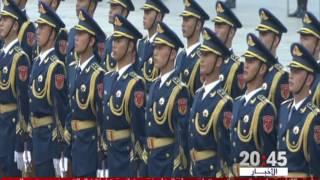 تلاميذ مدارس بكين يستقبلون الملك محمد السادس بالورود