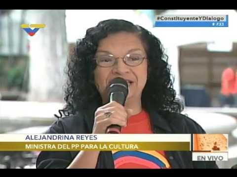 MInistra de Cultura Alejandrina Reyes y Freddy Ñáñez en inauguración de Feria del Libro de Caracas