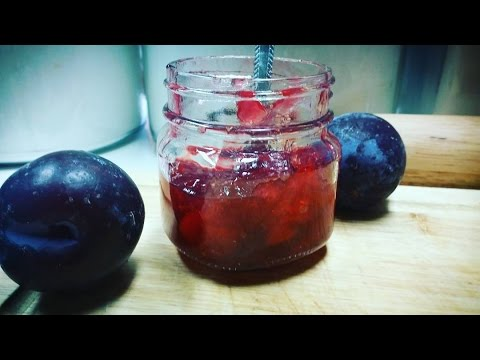 How To Make Easy Plum Jam Low Sugar Method Youtube