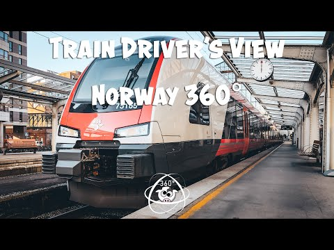 TRAIN DRIVER'S VIEW 360: Driving back from Bergen to Voss on a sunny autumn day
