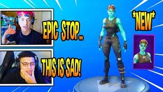 """STREAMERS REACT """"GHOUL TROOPER"""" SKIN RETURNING! *RARE* Fortnite EPIC & FUNNY Moments"""