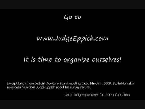 Bias? Judge Eppich Mesa, Arizona Municipal Judge Karl Eppich