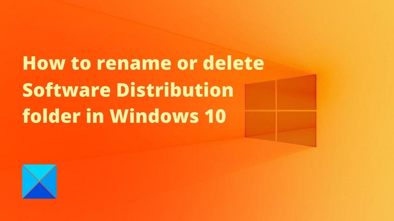 How to rename or delete Software Distribution folder in ...