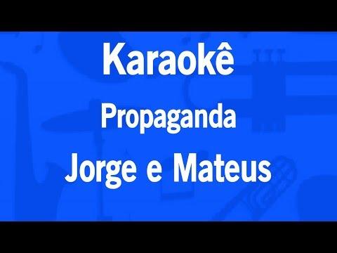 Karaokê Propaganda - Jorge e Mateus