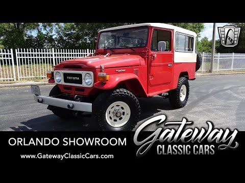 1981 Toyota FJ Land Cruiser For Sale Gateway Classic Cars Orlando #1636
