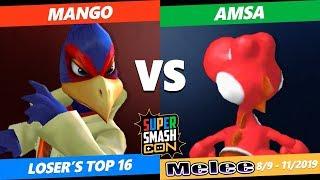 SSC 2019 SSBM - C9 Mango (Falco) VS RB CJE VGBC aMSa (Yoshi) Smash Melee Loser's Top 16