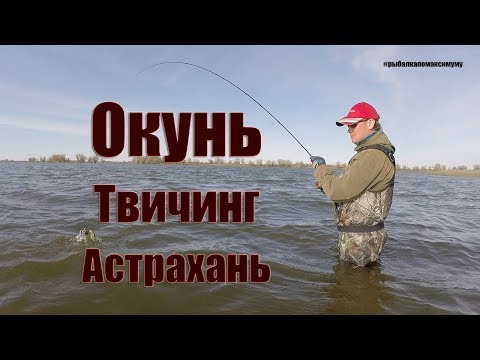Твичинг на мелководье. Ловля окуня на воблеры. Рыбалка в Астрахани.