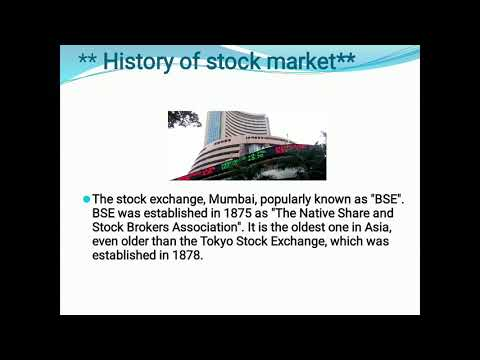 History of stock exchange in India
