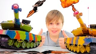 Игры Танки! Игры для мальчиков! ИгроБой Лёва. Видео для детей(Машинки на радиоуправлении, вертолеты, самолёты - это всё мы знаем! А вот чтобы на радиоуправлении были реал..., 2016-03-14T20:28:15.000Z)
