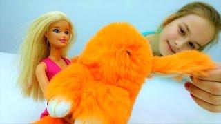 Видео для девочек. Кролик Барби заболел. Игры больница