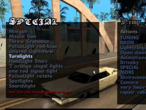 GTA San Andreas Pimp My Car Final Mod