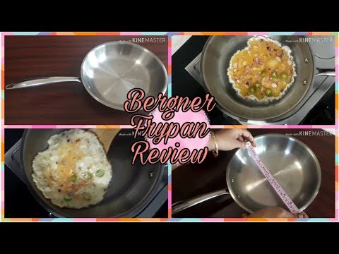 Bergner Argent Stainless Steel Fry Pan Review In English/Making Omelet In Bergner Cookware